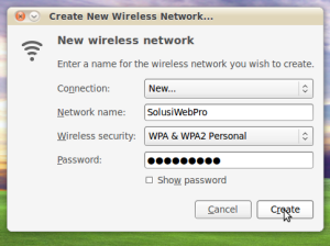 Create New Wireless Network