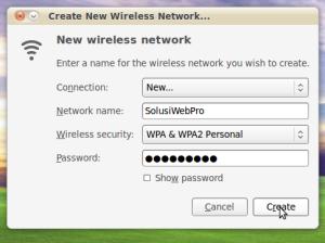Create New Wireless Network