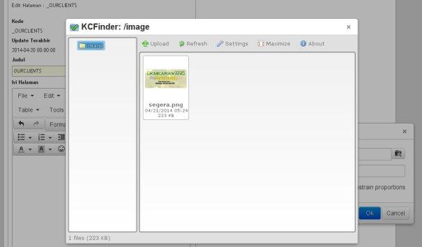Gb. 10.6 | Berhasil upload file gambar
